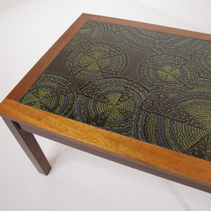 Teak Coffee Table with Tiled Top