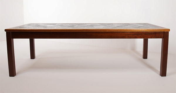 Enamel Tile Teak Coffee Table